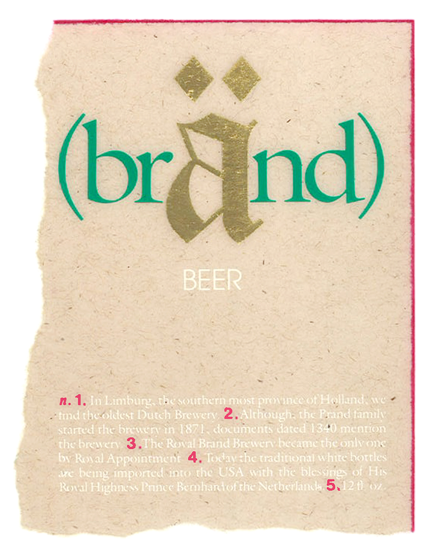 brand beer label