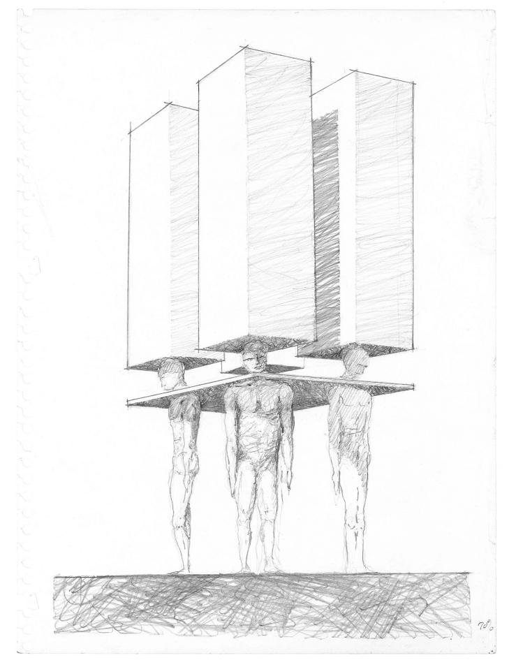 men as columns