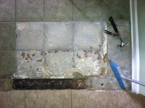 kitchen floor reno