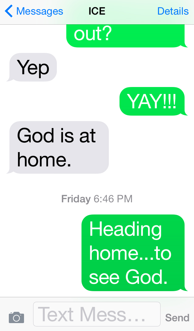 god is at home