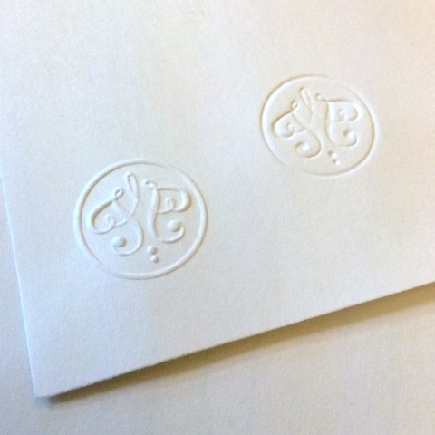 T+P embossed sample