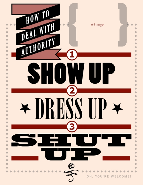 HOW to DEAL WITH AUTHORITY