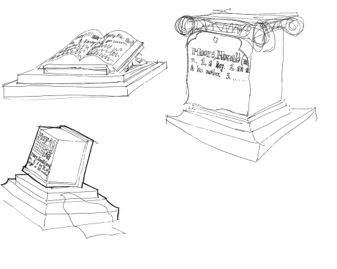 gravestone sketches #3-LOW